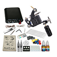 1 x stål tatoveringsmaskin til lining og skyggelegging Mini strømforsyning 5 x tatoveringsnål RL 3 1PCS 1 x Aluminiumsgrep 1 × 5mlstart