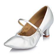 baratos Sapatilhas de Dança-Mulheres Sapatos de Dança Latina / Sapatilhas de Sapateado / Sapatos de Dança Moderna Couro Salto Salto Personalizado Personalizável