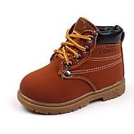 Bootsit-Matala korko-Pojat-Tekonahka-Musta Ruskea Keltainen-Ulkoilu Rento-Comfort