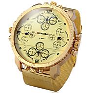 Homens Relógio Militar Relógio Elegante Relógio de Moda Relógio Esportivo Quartzo Punk Dois Fusos Horários Aço Inoxidável Banda Vintage