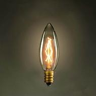 c35キャンドルイエローe14 40w 220vの - 240v小さなネジエジソン電球