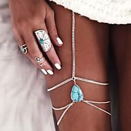 נשים תכשיט לקרסול/צמידים סגסוגת ארופאי טיפה תכשיטים עבור חתונה יומי קזו'אל חוף
