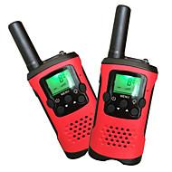 Barna walkie talkies 22 kanaler og Bakgrunnsbelyst LCD-skjerm (opp til 6km i åpne områder) walkie talkies for barn (1 par) T48