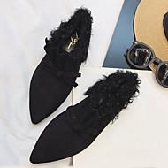 Dame Pantofi Flați Toamnă Iarnă Confortabili Imitație de Piele Casual Negru Khaki