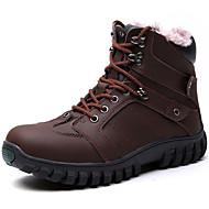 Bărbați Cizme Primăvară Toamnă Iarnă Confortabili Nappa Leather Outdoor Casual Atletic Negru Maro Drumeții