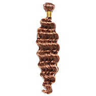 100g/pc Deep Wave 10-18Inch Color #30 Medium Auburn Human Hair Weaves