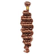 Натуральные волосы Индийские волосы Precolored ткет волос Глубокие волны Наращивание волос 1 шт. Medium Auburn