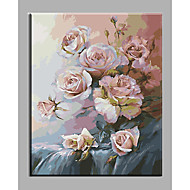 Hand Painted Oil Painting Flowers  For Living Room with Stretched Frame Ready to Hang