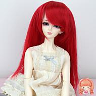 Naisten Synteettiset peruukit Suora Punainen Doll Wig puku Peruukit
