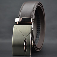 Men High Quality Automatic Buckle Waist Belt Work / Casual Alloy / Leather Black / Brown All Seasons