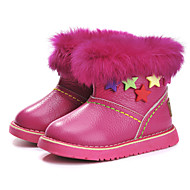 cheap Girls' Shoes-Girls' Shoes Leather Winter Fluff Lining Bootie Snow Boots First Walkers Comfort Boots Magic Tape Tassel Zipper for Party & Evening Dress