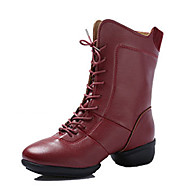 baratos Sapatilhas de Dança-Mulheres Sapatos de Dança Latina / Sapatos de Jazz / Tênis de Dança Courino Têni Salto Robusto Personalizável Sapatos de Dança Prata /