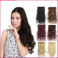 Clip in hair extensions hairpiece 23inch 58cm 110g curly wavy hair long synthetic straight and clip in hair extensions with 5 clips pmusecretfo Images