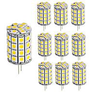 billige Bi-pin lamper med LED-10pcs 5 W 400 lm G4 LED-lamper med G-sokkel T 49 LED perler SMD 5050 Mulighet for demping / Dekorativ Varm hvit / Kjølig hvit 12-24 V / 10 stk. / RoHs