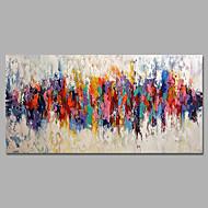 billiga Landskapsmålningar-HANDMÅLAD Abstrakt / Landskap olje,Moderna / Parfymerad En panel Kanvas Hang målad oljemålning For Hem-dekoration