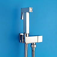 Modern  with  Chrome Single Handle One Hole  for Wall Mount Pull out