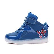 baratos Sapatos de Menino-Para Meninos Sapatos Couro Ecológico Inverno Conforto Tênis Cadarço / LED para Cinzento / Vermelho / Azul Real
