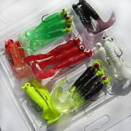 21pcs 個 ソフトベイト ルアー ソフトベイト ソフトプラスチック 海釣り 川釣り