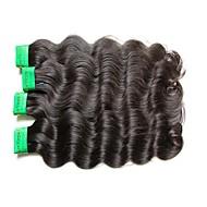 Dobra jakość 8a indyjska dziewica włosa fala 4bundle 400g partia 100% nieprzereagowana ludzka włosia materiał naturalny czarny kolor pełny