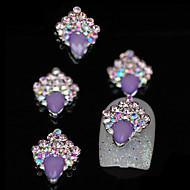 10pcs Purple Unique Glitter DIY Alloy Accessories Nail Art Decoration