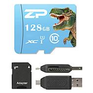 baratos Cartões de Memória-ZP 128GB MicroSD Classe 10 80 Outro Leitor de Cartão Tudo-em-Um Leitor de Cartão Micro SD Leitor de Cartão SD ZP-1 USB 2.0