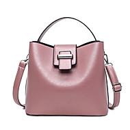 baratos Bolsas Tote-Mulheres Bolsas PU Tote Sólido Cinzento / Azul / Rosa claro