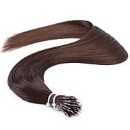 """neitsi® 20 """"1 g / s nano Ringschleife gerades Haar 100% Echthaar Haarverlängerungen schwarz 2 # include Haar-Tools"""