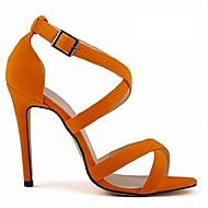 baratos Sapatos Femininos-Mulheres Sapatos Tecido Verão / Outono Salto Agulha Azul / Nú / Azul Real / Festas & Noite / Festas & Noite