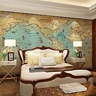 Art Deco Bakgrunn For Hjem Retro Rød Tapetsering , Lerret Materiale selvklebende nødvendig Mural , Room wallcovering