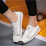 Žene Cipele Umjetna koža Proljeće Udobne cipele Sneakers za Vanjski Obala Crn