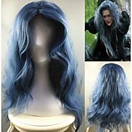 Γυναικείο Συνθετικές Περούκες Χωρίς κάλυμμα Μακρύ Απλά κυματιστά Μπλε Στη μέση Περούκα άνιμε Απόκριες Περούκα Καρναβάλι περούκα φορεσιά