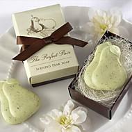 Dovolená Dárky mini hruška tvar mýdlo (náhodné barvy)