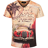 Majica s rukavima Muškarci Sport V izrez Print Pamuk