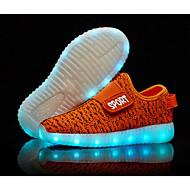 tanie Obuwie chłopięce-Dla chłopców Obuwie Dzianina Jesień Wygoda / Świecące buty Buty do lekkiej atletyki LED na Zielony / Niebieski / Różowy