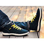 baratos Sapatos Masculinos-Homens Botas de Neve Tecido Outono / Inverno Conforto Botas Caminhada Antiderrapante Preto / Azul Marinho / Verde Escuro