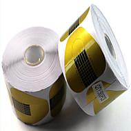 500pcs papel prende o papel da ferradura contém ferramentas manicure acrílicos extensão fototerapia estender um pacote