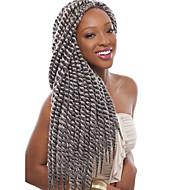 """abordables -Tresses Twist Tresse Natté La Havane 40cm 45cm 51cm 56cm 24 """" Cheveux 100 % Kanekalon Auburn Violet Bourgogne Bleu Brun Rajouts de Tresses"""