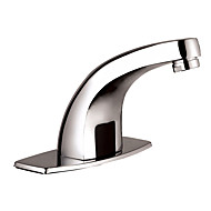cheap Bathroom Sink Faucets-Contemporary Art Deco/Retro Modern Deck Mounted Touch/Touchless Ceramic Valve One Hole Single Handle One Hole Chrome , Bathroom Sink