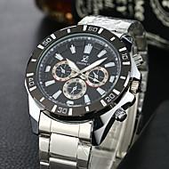 baratos -Homens Quartzo Relógio de Pulso Relógio Esportivo Relógio Casual Aço Inoxidável Banda Vintage Casual Relógio Elegante Fashion Branco