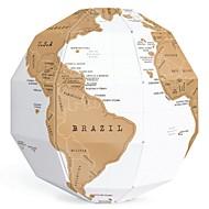 diy creatieve scratch globe assemblage 3D stereo globe wereld kaart verticale wereld gift