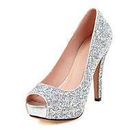 Femme Chaussures Paillette Matières Personnalisées Printemps Eté Automne Hiver Chaussures à Talons Talon Aiguille Plateforme Bout ouvert