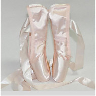 Women's Ballet Satin Full Sole Indoor Flat Heel Blushing Pink Customizable