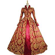 Regina Elisabeta Vintage Βικτωριανής Εποχής Rococo Costume Pentru femei Costume petrecere Mascaradă Roșu Vintage Cosplay Dantelă Bumbac