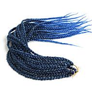 Tığ işi saç örgüleri Saç Örgüleri kutu Örgü Ombre Örgülü Saçlar Sentetik Saç Siyah / Bordo Çilek Sarışın / Bleach Sarışın Orta Kahve