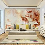Blomster Art Deco 3D Tapet til Hjemmet Moderne Tapetsering , Lerret Materiale selvklebende nødvendig Veggmaleri , Tapet