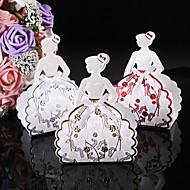 25pcs noiva caixa de casamento princesa doces caixa de presente caixa bebê chuveiro caixa de chocolate
