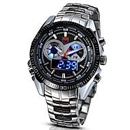 billige Kjoleur-Herre Digital Digital Watch Armbåndsur Militærur Sportsur LED Legering Bånd Vintage Afslappet Kjoleur Mode Sølv