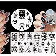 4 pcs Stamper e raspador Kit de Estampagem Placa de Estampagem Modelo arte de unha Manicure e pedicure Fashion Diário / Silicone / Plástico / Placa de Carimbar / Stamper & Scraper / Aço