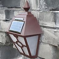 billige Utendørs Lampeskjermer-retro ledet solens lys utendørs hage Solar LED vegglampe vanntett pathway Solar LED gatelys gjerde takterrasse belysning