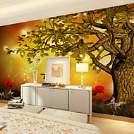 JAMMORY Art DecoWallpaper For Home Wall Covering Canvas Adhesive required Mural Golden Tree XL XXL XXXL